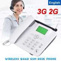 3G 2G GSM Fixed Wireless Telefon Schreibtisch Handy LCD Screen SIM Karte Desktop Antenne Interface eingehenden anruf display 100 240V-in Funkgerätteile und -Zubehör aus Handys & Telekommunikation bei