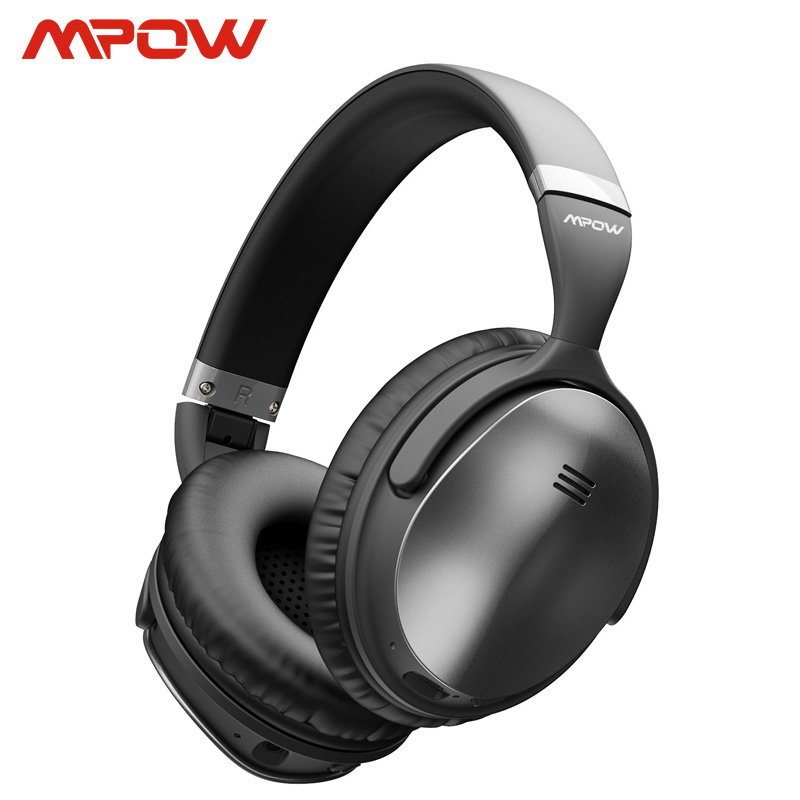 Mpow H5 2nd ANC Active Noise Cancelling Wireless Bluetooth Headphones Hi-Fi Stereo Headset With Carry Bag For Iphone X Samsung