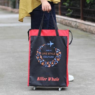 Портативная тележка для продуктов Женская Мужская сумка складная сумка тележка Сумка на колесах купить Сумка для овощей хозяйственная сумка трейлер XYLOBHDG - Цвет: B