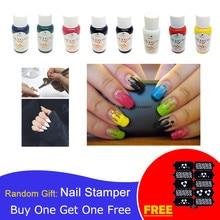 Набор чернил для дизайна ногтей, 30 мл, трафареты, пистолет распылитель для ногтей, аксессуары для ногтей, 8 цветов