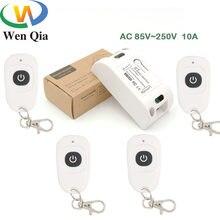 433mhz ac 220v controle remoto 10amp 2200w 1ch relé receptor e transmissor interruptor para iluminação lâmpada led e sistema de porta