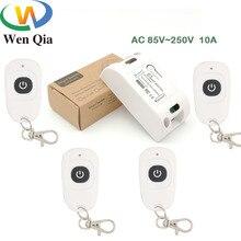 433MHz AC 220V telecomando 10Amp 2200W 1CH relè ricevitore e trasmettitore interruttore per illuminazione lampada LED e sistema di porte