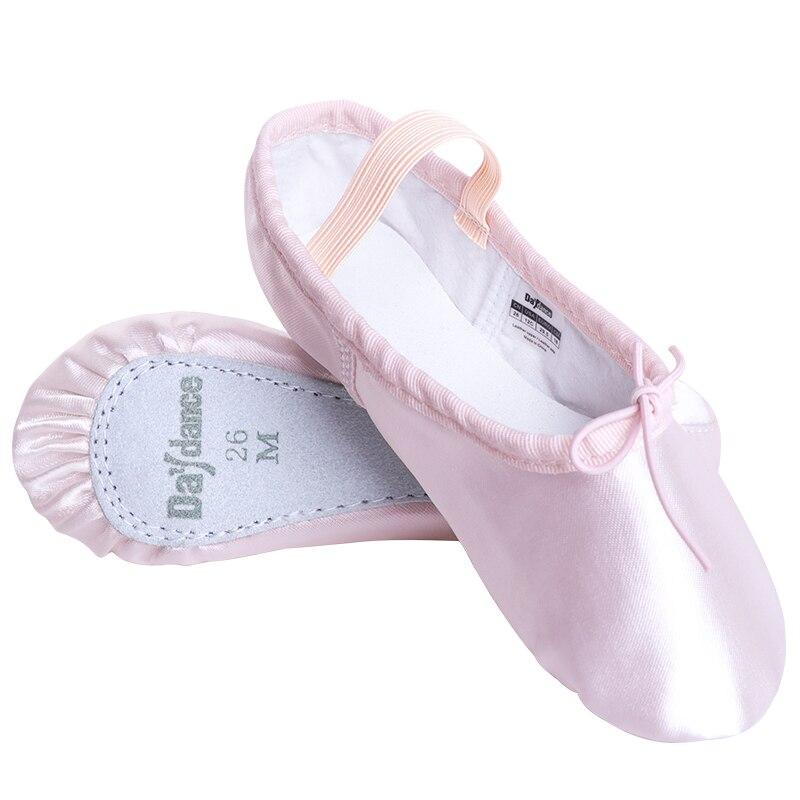 Zapatos de Ballet de satén para niñas, suela completa profesional rosa, zapatos planos para Ballet, fiesta de cumpleaños Botines blancos de cuero partido suave para mujer, botas de moto para mujer, zapatos de Otoño Invierno para mujer, botas Punk para moto, primavera 2020
