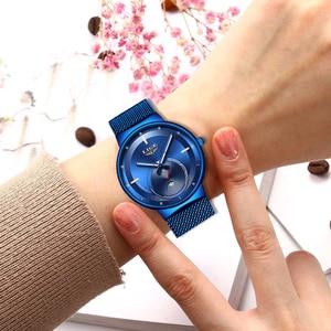 Image 3 - 2020 Watch Women And Men Watch LIGE Top Brand Luxury Ladies Mesh Belt Ultra thin Watch Waterproof Quartz Wrist watch Reloj Mujer