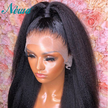 Lace Front Human Hair Wigs Pre Plucked Kinky Straight Brazilian Lace Front Wigs For Women 13x6