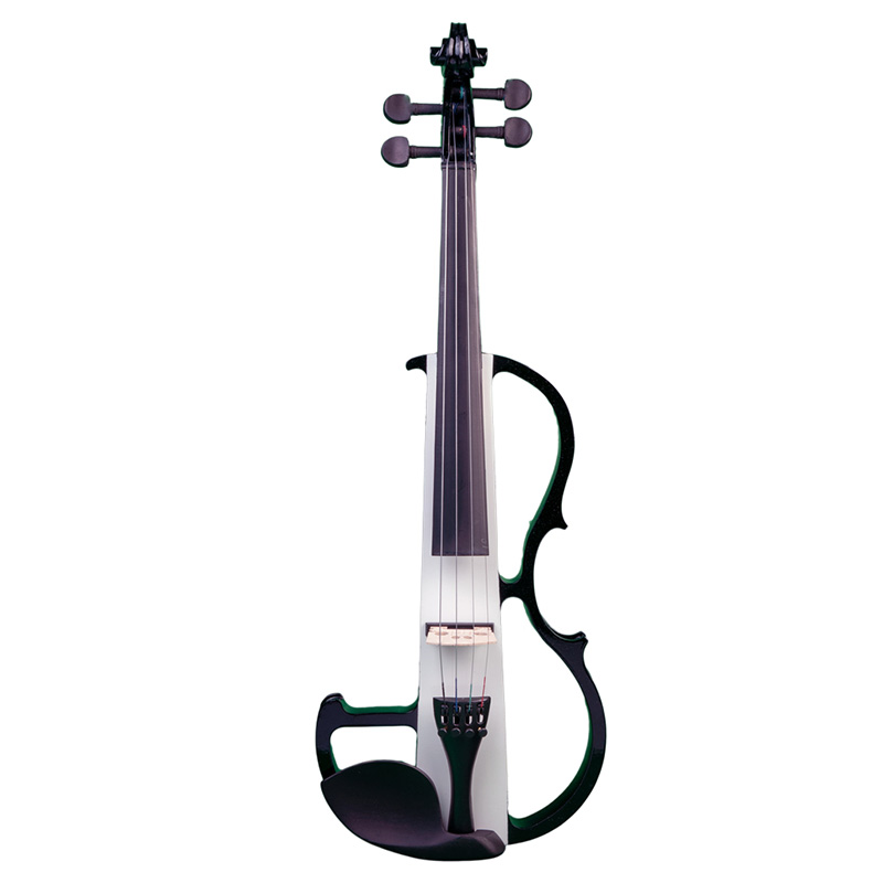 NAOMI Electric Violin Full Size 4/4 Silent Electric Violin Solid Wood W/ Bow Case Headphone Cable Rosin New Set