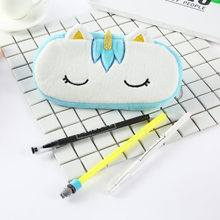 Stationery pencil bag Peluche cosmetic bag child babys toys stuffed animals kawaii unicorn pen bag children toys soft plush toys(China)