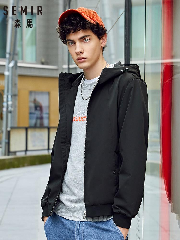 SEMIR 2020 Spring Autumn New Jacket Men Hooded Zipper Jacket Fashion Coat