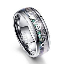 Мужское классическое кольцо шириной 8 мм из нержавеющей стали
