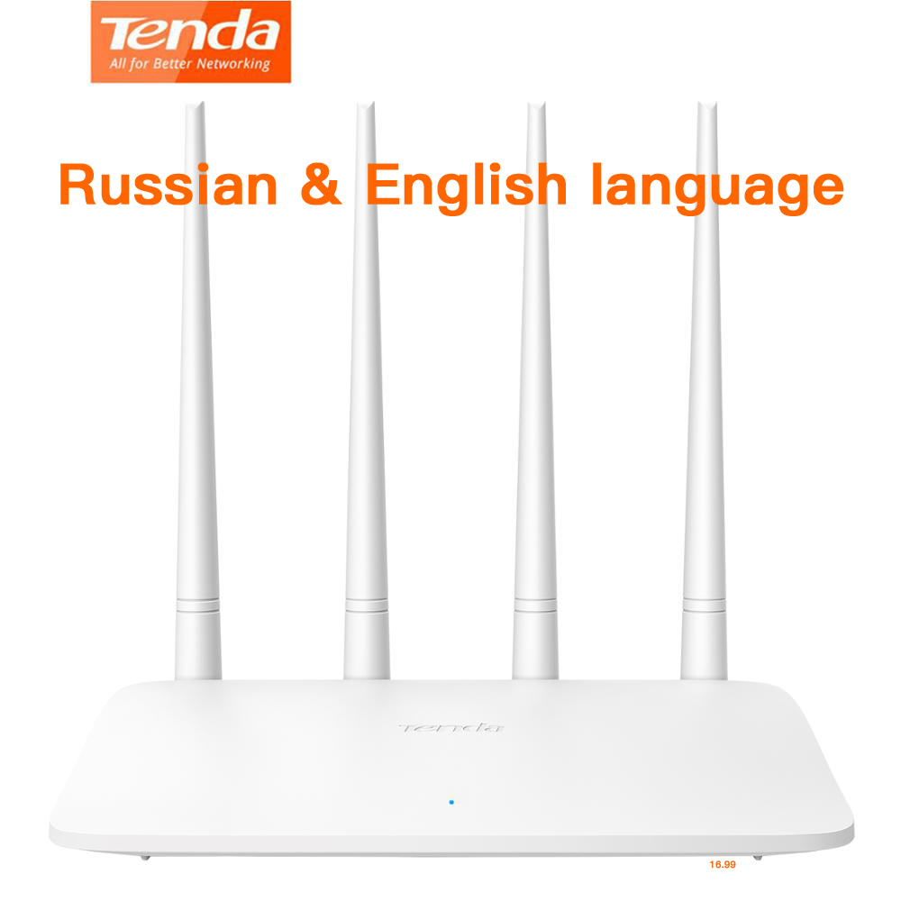 English&Russian Tenda F6 Router Wireless Wifi 300Mpbs Easy Setup Home Routers With 4 External 5db Antennas MIMO Simple