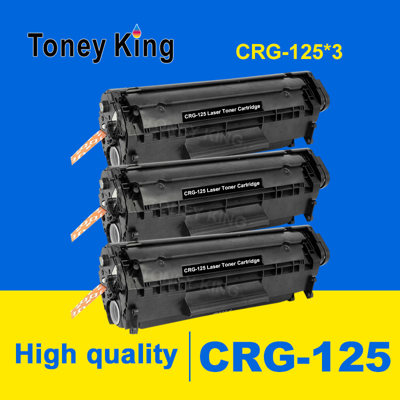 Toney King 3 Pack Compatible CRG 125 325 725 925 BK Laser Toner Cartridge for <font><b>Canon</b></font> <font><b>LBP6000</b></font> LBP6018WL LBP6030w MF3010 Printers image