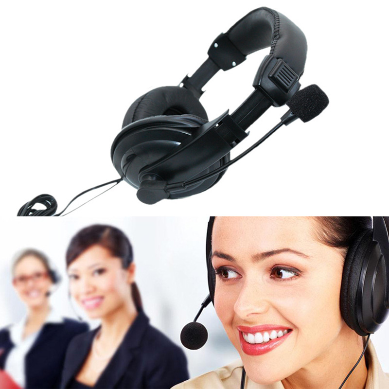 3.5mm Wired Headphones With Microphone Business Headset Mic Earphone For Computer PC Gaming Stereo Skype NC99 image