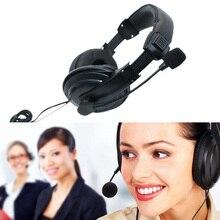 3.5mm przewodowe słuchawki z mikrofonem biznesowy zestaw słuchawkowy Mic słuchawki do komputera gry komputerowe Stereo Skype NC99