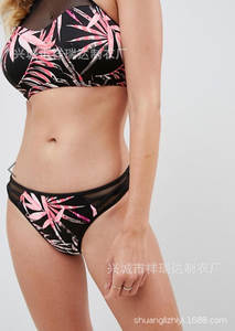 Hot Selling Chest Bandage Gold Lock Bikini Two-piece Swimsuits