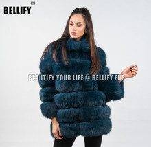 New arrival Russian Style Big panels Dyed Beautiful real fox fur coats Outerwear