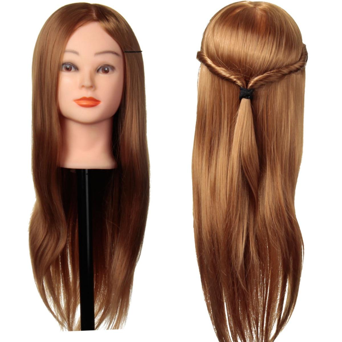 24 дюйма 30% натуральные волосы для тренировки головы манекена с подставкой Держатель для прически профессиональная практика голова парика д...