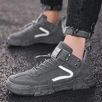 Мужская повседневная обувь; модные кроссовки для мужчин; замшевая спортивная обувь; Мужская обувь высокого качества; цвет черный, серый; ...