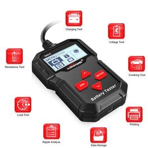 Image 2 - KONNWEI – KW210 testeur intelligent automatique de batterie de voiture, analyseur automatique de batterie de voiture, 100 à 2000CCA