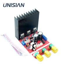 Unisian lm1875 2.1 canais placa amplificador de potência lm 1875 três canais graves agudos alto-falante amplificadores para casa sistema áudio