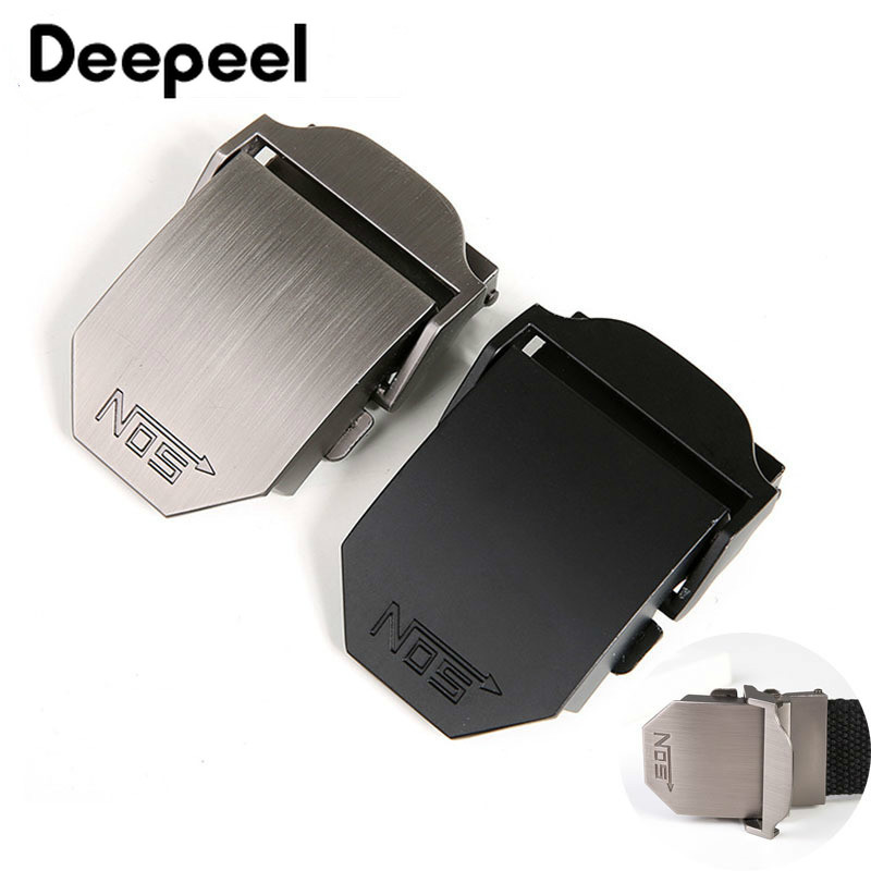 Deepeel 1pc ID40mm Alloy Men Belt Buckle For 38-39MM Belt Fashion Automatic Buckle Head DIY Jeans Decorative Accessories AP2765