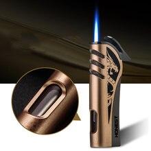 Высококлассная металлическая газовая зажигалка honest струйфонарь