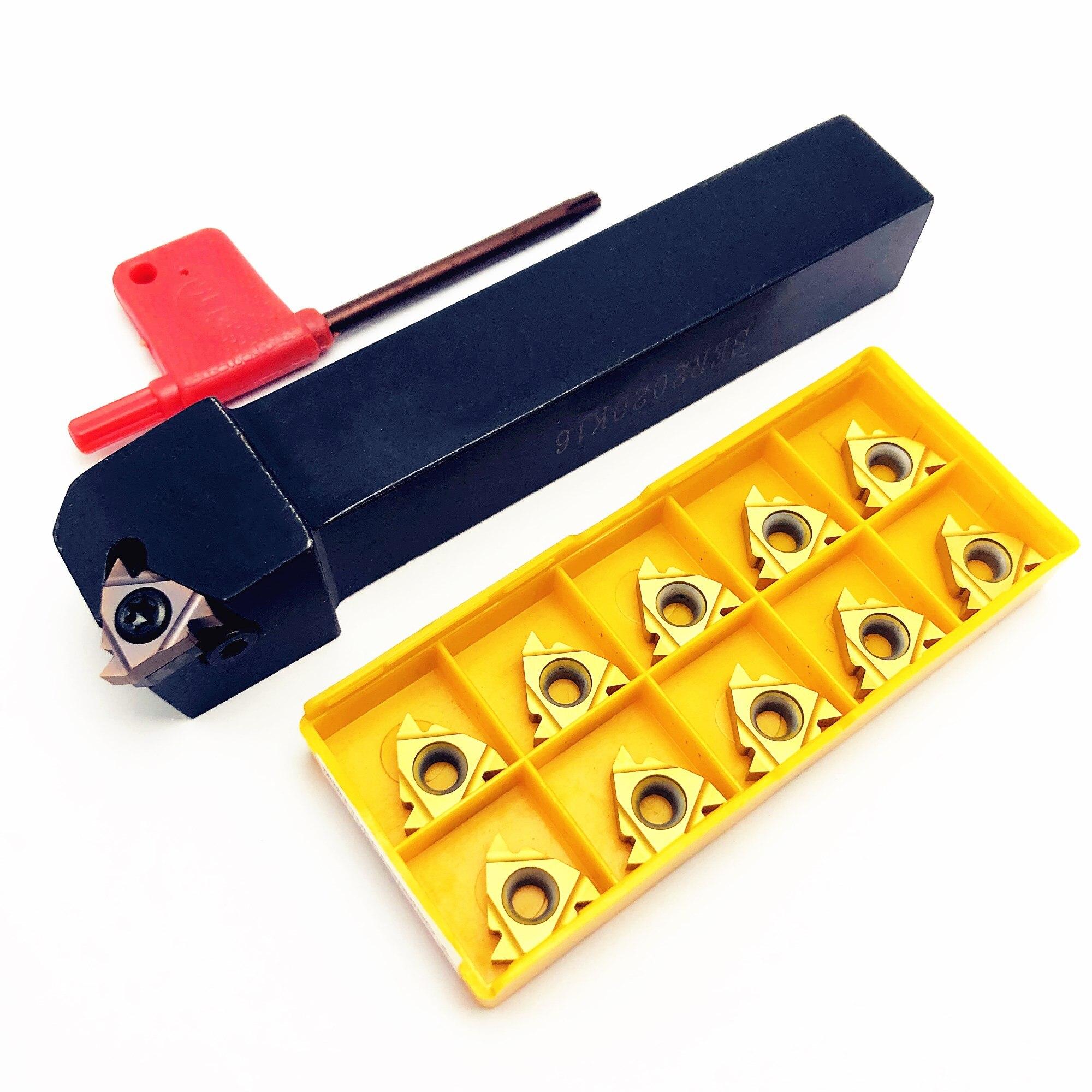 1PCS SER1212H16 SER1616H16 SER2020K16 SER2525M16 Compound Boring Tool Holder External Tool Holder For MMT16ER 16IR Thread Cutter