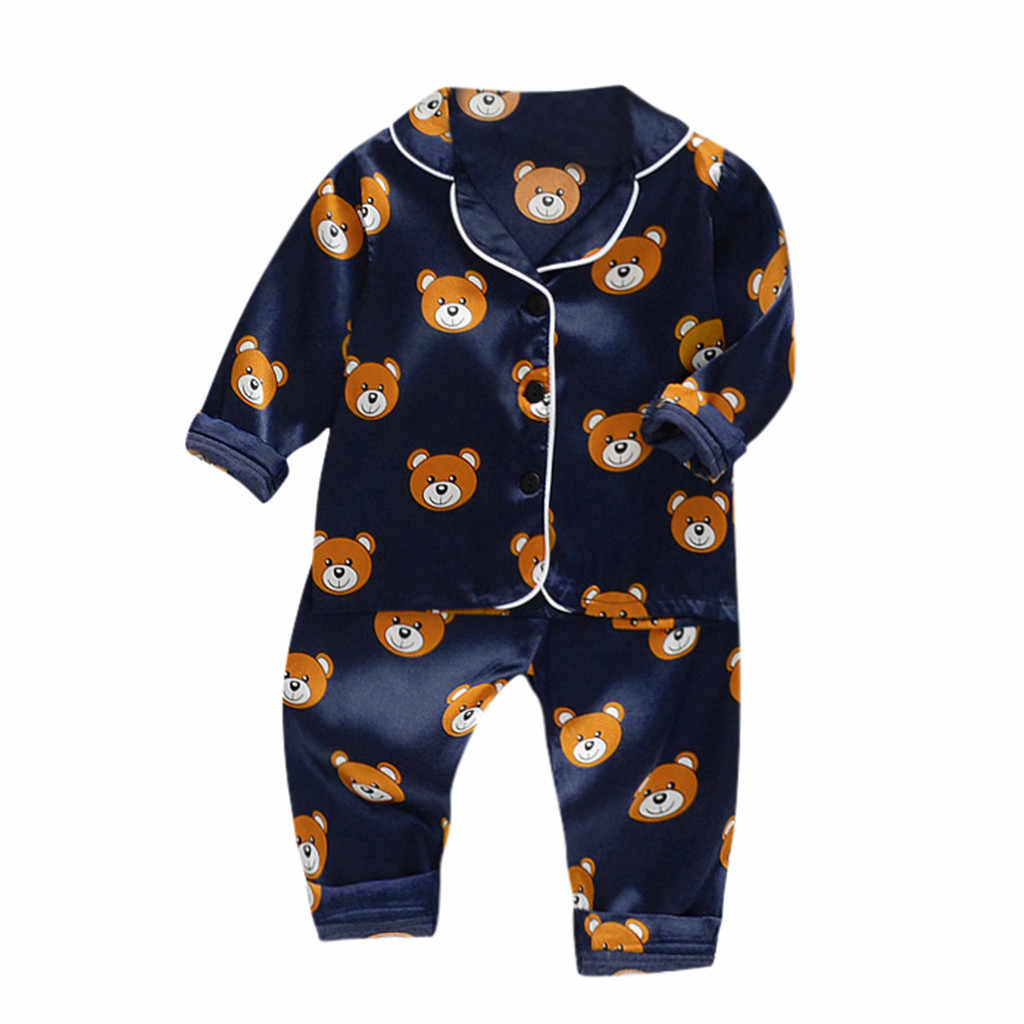 2019 New Autumn Children Cartoon Pajamas For Girls Boys Sleepwear Long-sleeved Cotton Nightwear Baby Pyjamas Sets Kids Clothes