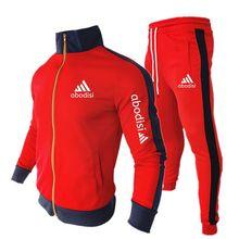 2 peças jaqueta de inverno casual com zíper jaquetas esportivas + calças moletom terno esportivo masculino conjuntos roupas