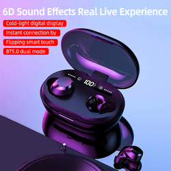 6D Stereo Bluetooth Earphone Noise Cancelling Wireless Headphones TWS Earbuds 3300 mAh LED Display Bluetooth Earphones 2019 New