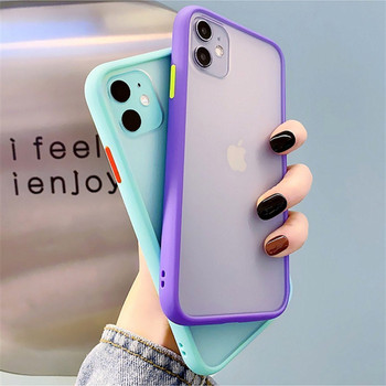Mint Hybrid Matte Bumper Phone Case for Iphone12 Pro Max Xr Xsmax 6s 8 7 Plus Shockproof Tpu Silicone Cover for Iphone11 Pro Max image