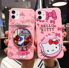 Hello Kitty Mobile Phone Case untuk iPhone 11 11pro 11pro Max iPhone 7 8 UNTUK iPhone 6 6 S 2020SE(China)