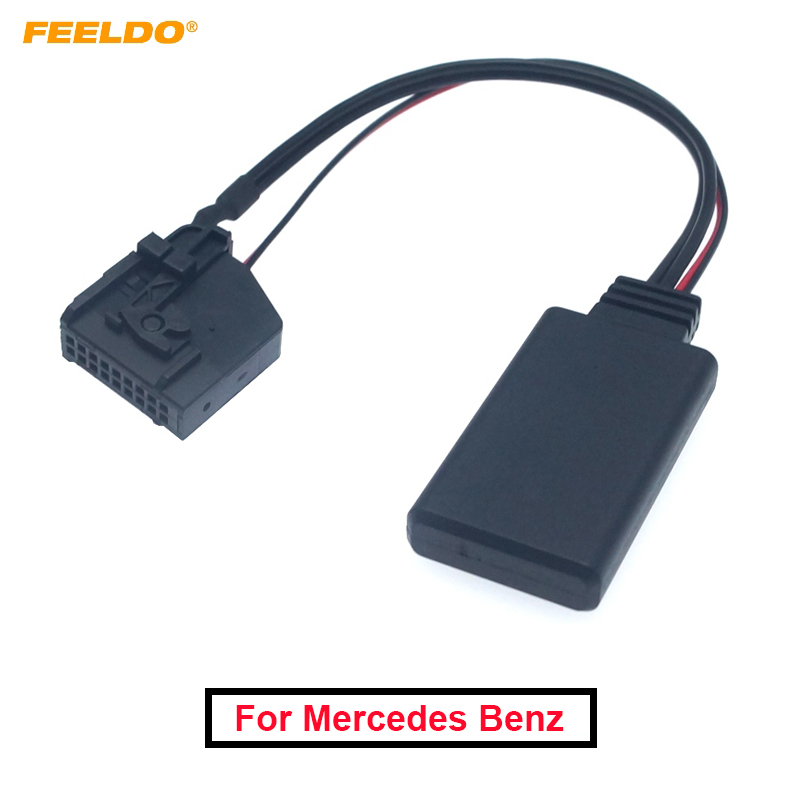 1PC Car Stereo Audio Interface Bluetooth Wireless Module Aux Cable Adapter For Mercedes Comand 2.0 W211 R170 W164 Receiver Jun5 image