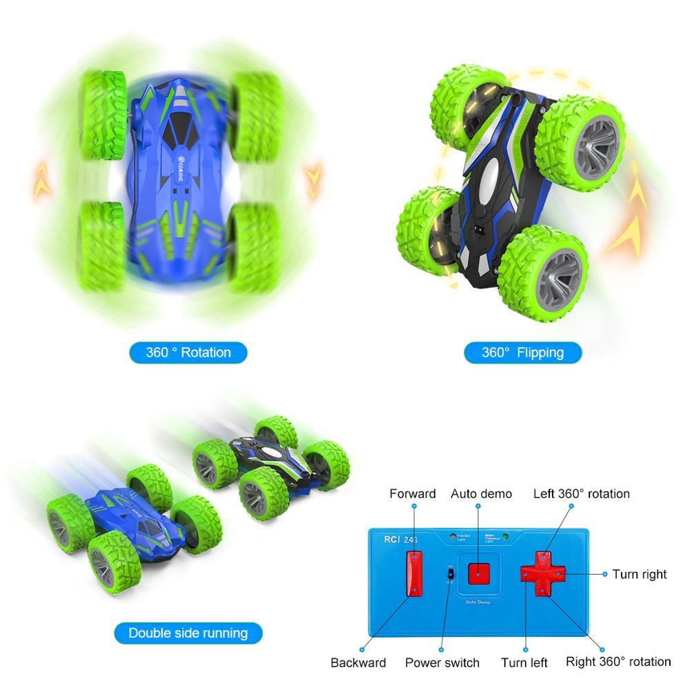 Eachine ec07 RC Car 2.4G 4CH Stunt Drift Deformation Remote Control Rock Crawler Roll Flip Kids Robot Auto Toy 6