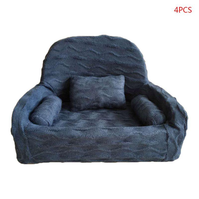 4 Pcs/set Newborn Photography Props Baby Posing Sofa Pillow Set Chair Decoration P31B