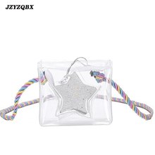 Womens Transparent Bag Woman Shoulder Bags And Handbags Mini Lovely Star Pure Color Beach