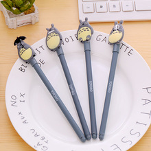 1pc gel pen plastic 0.5mm black Ink kawaii water and signature pens for school office supplies creative cute stationery
