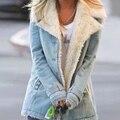 Женская зимняя куртка из искусственного меха, плотная теплая однотонная куртка с капюшоном, верхняя одежда большого размера, Повседневная ...