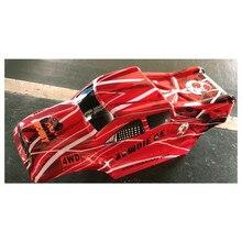 Pièces de voiture DHK RC 8384 008, nouvelle version, corps imprimé Zombie 8e, couleur rouge (corps en PVC)
