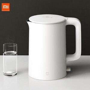 Image 1 - Xiaomi Mijia 電気ケトル 1A 白 1800 ワットハンドヘルドインスタント暖房電気温水ケトルオートパワーオフ 1.5L 容量