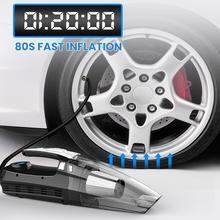 4 в 1 двойные фильтры Авто очистители воздуха 120 Вт автомобильный пылесос 12V цифровых шин с светодиодный свет пылесос воздушный компрессор