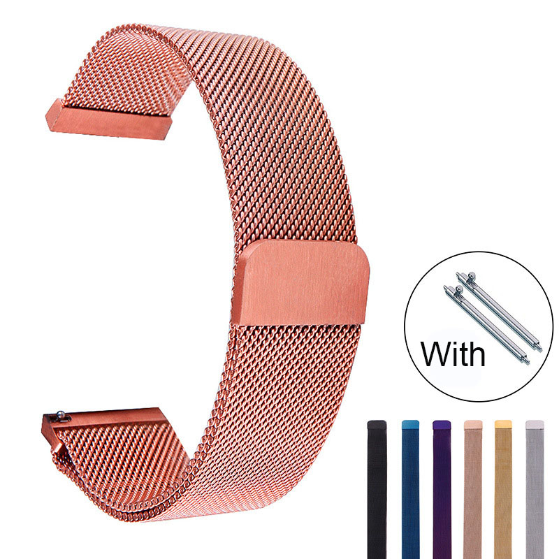 Stainless Steel Watch Band 2020 New Stylish Milanese Magnetic Metal Watchbands 14-24mm For Samsung Galaxy S2/3 Watch
