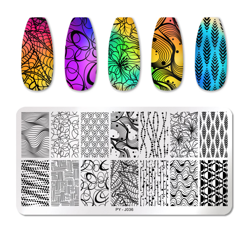 PICT YOU 12*6cm Nail Art Templates Stamping Plate Design Flower Animal Glass Temperature Lace Stamp Templates Plates Image 75