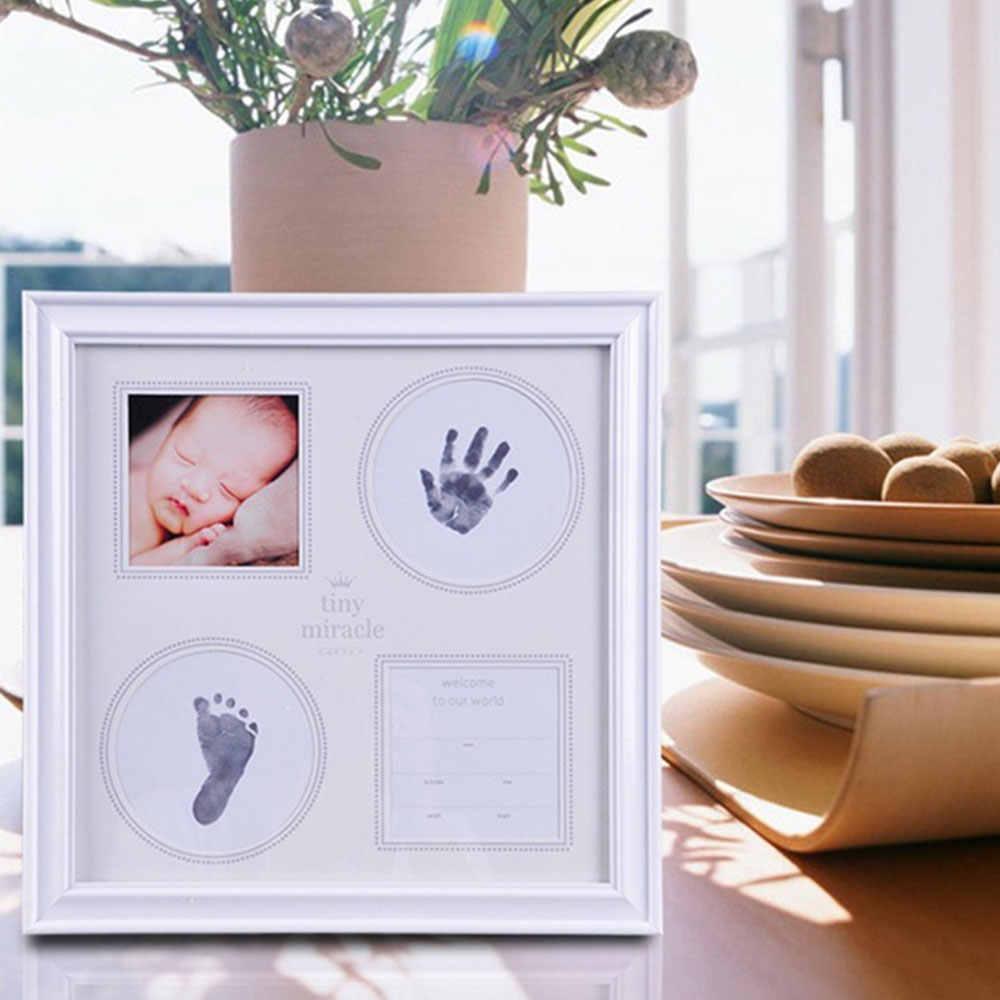 หมึก Pad ลายน้ำทารกแรกเกิดรายการของที่ระลึกลายน้ำชุดแฟชั่น Handprint Footprint ปลอดสารพิษปลอดภัยสร้างสรรค์ Footprints