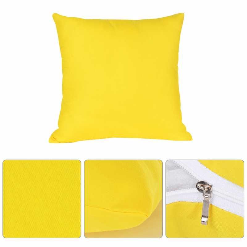 חדש בית דקורטיבי מוצק ציפות כותנה פשתן כיכר מצעים כריות כיסוי רך מקרה כרית כיסא חתונה 40x40cm