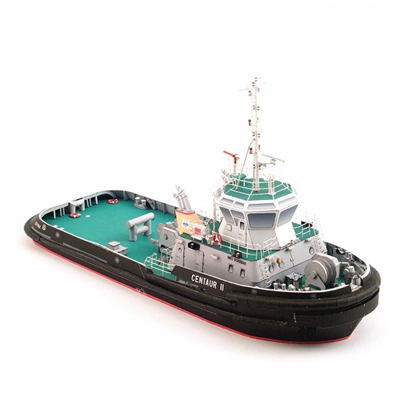 1:100 Polish Centaur II Tugboat DIY 3D Paper Card Model Building Sets Construction Toys Educational Toys Military Model