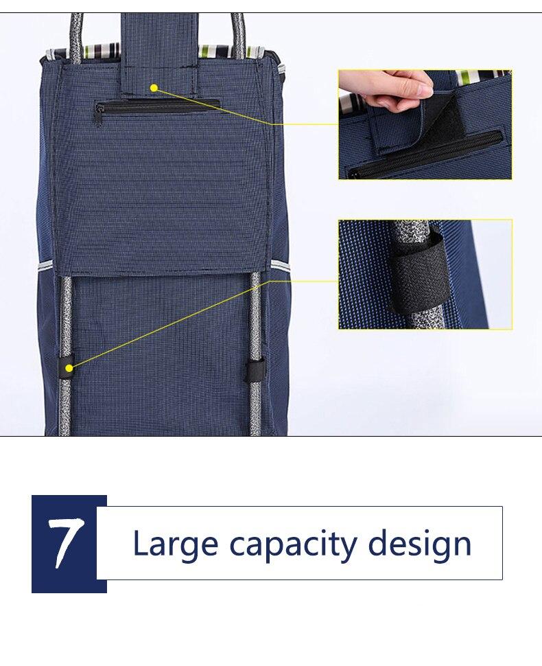 Поднимайтесь вверх, тележка для покупок, большие товары, товары, чехол на колесиках, складная тележка для прицепа, бытовая Портативная сумка для покупок, женская сумка