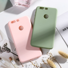Honor 8 Case Candy Color Matte TPU Phone Case Huawei Honor8 Cases Silicone L19 L14 L04 AL00 FRD-L19 L14 L04 AL00 TL00 AL10 5.2