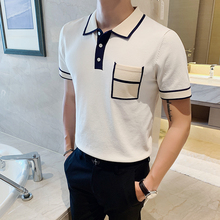 Summer Polo Clothing Short-Sleeve Slim-Fit Comfortable Men 3colors Fashion Turn-Down-Collar