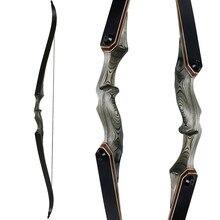 30-60lbs arco recurvo de tiro com arco mão esquerda direita glassfiber folha processo laminação longbow para caça treinamento tiro