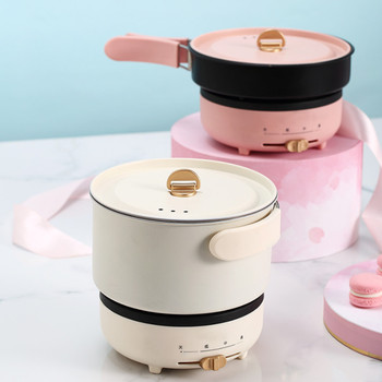 220V 2 Layers Electric Multi Cooker Portable Electric Hot Pot Travel Pot With 1 Stainless Steel Inner And 1 Non-stick Inner 4